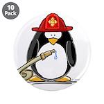 """Fireman penguin 3.5"""" Button (10 pack)"""