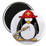 """Fireman penguin 2.25"""" Magnet (10 pack)"""