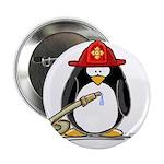 """Fireman penguin 2.25"""" Button (10 pack)"""