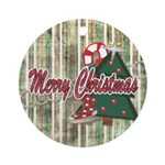 MerryChristmasChristmasOrnament Ornament (Round)