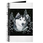 Alaskan Malamute Winter Desig Journal
