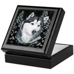 Alaskan Malamute Winter Desig Keepsake Box