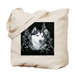 Alaskan Malamute Winter Desig Tote Bag