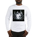 Alaskan Malamute Winter Desig Long Sleeve T-Shirt