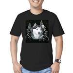 Alaskan Malamute Winter Desig Men's Fitted T-Shirt