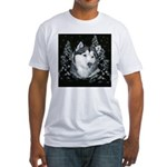 Alaskan Malamute Winter Desig Fitted T-Shirt