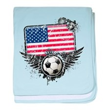 Soccer Fan United States baby blanket