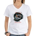 Musky Hunter Women's V-Neck T-Shirt