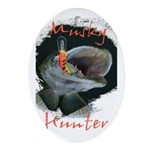 Musky Hunter Ornament (Oval)