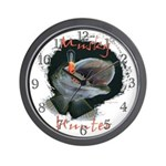 Musky Hunter Wall Clock
