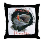 Musky Hunter Throw Pillow