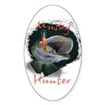 Musky Hunter Sticker (Oval)