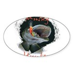 Musky Hunter Sticker (Oval 50 pk)