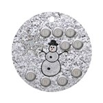 Let IT SnowChristmasOrnament Ornament (Round)