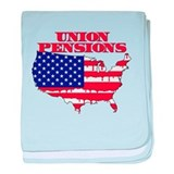 Union Pensions baby blanket