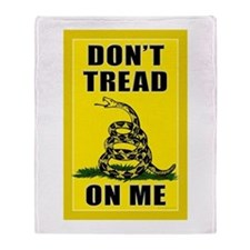 Dont Tread On Me Throw Blanket