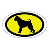 Brussells Griffon Oval Decal