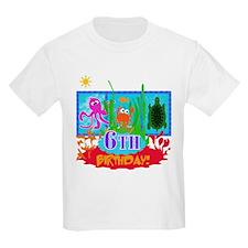 Undersea Adventure 6th Kids T-Shirt
