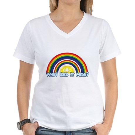 Double Rainbow Womens V-Neck T-Shirt