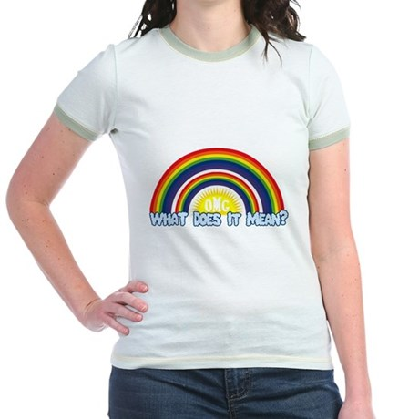 Double Rainbow Jr Ringer T-Shirt