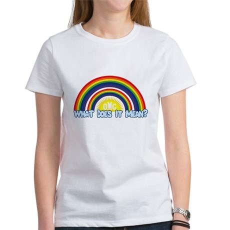 Double Rainbow Womens T-Shirt