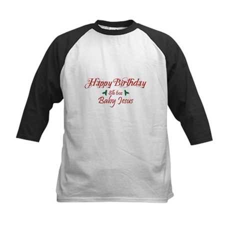 Happy Birthday Baby Jesus Kids Baseball Jersey