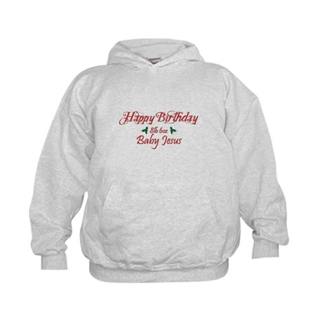 Happy Birthday Baby Jesus Kids Hoodie