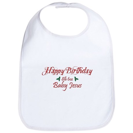 Happy Birthday Baby Jesus Bib