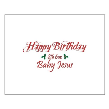 Happy Birthday Baby Jesus Small Poster