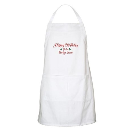 Happy Birthday Baby Jesus Apron