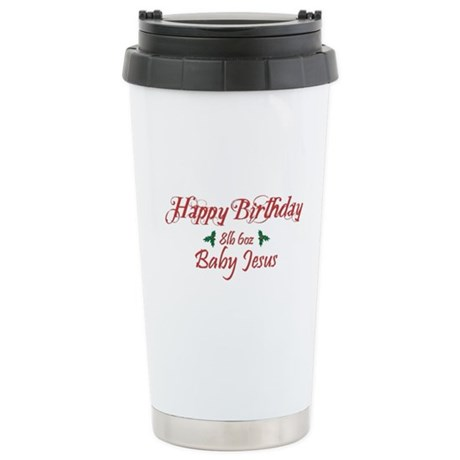 Happy Birthday Baby Jesus Ceramic Travel Mug