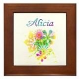 Alicia Floral Framed Tile