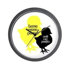 Your peeps call my peeps Wall Clock