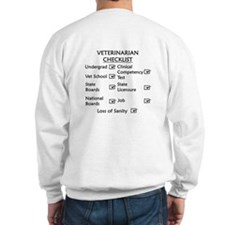 Veterinarian Checklist Sweatshirt