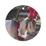 Christmas Goat Ornament (Round)