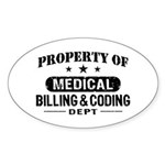Medical Billing and Coding Sticker (Oval)