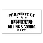 Medical Billing and Coding Sticker (Rectangle)