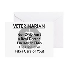 Veterinarian A Real Doctor Greeting Cards (Pk of 2