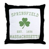 Springfield MA Throw Pillow
