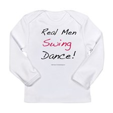 Real Men Swing Dance Long Sleeve Infant T-Shirt
