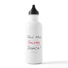 Real Men Swing Dance Sports Water Bottle