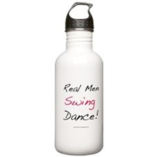 Real Men Swing Dance Water Bottle