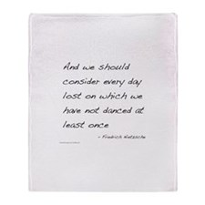 Nietzsche on Dance Throw Blanket