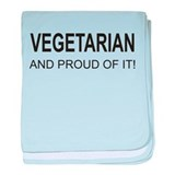 Proud Vegetarian baby blanket