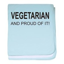 Proud Vegetarian baby blanket