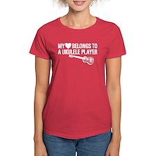 My Heart Ukulele Player Tee