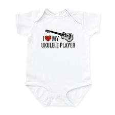 I Love My Ukulele Player Infant Bodysuit