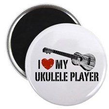 I Love My Ukulele Player Magnet