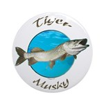Tiger musky Ornament (Round)