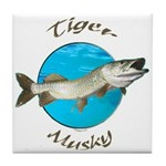 Tiger musky Tile Coaster
